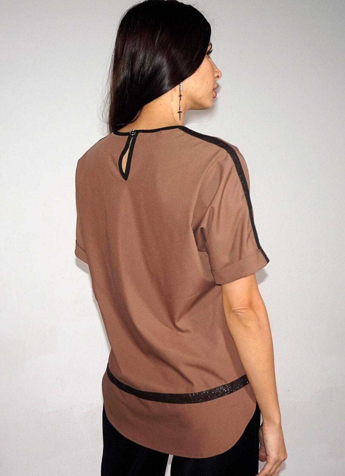 блузки коричневого цвета