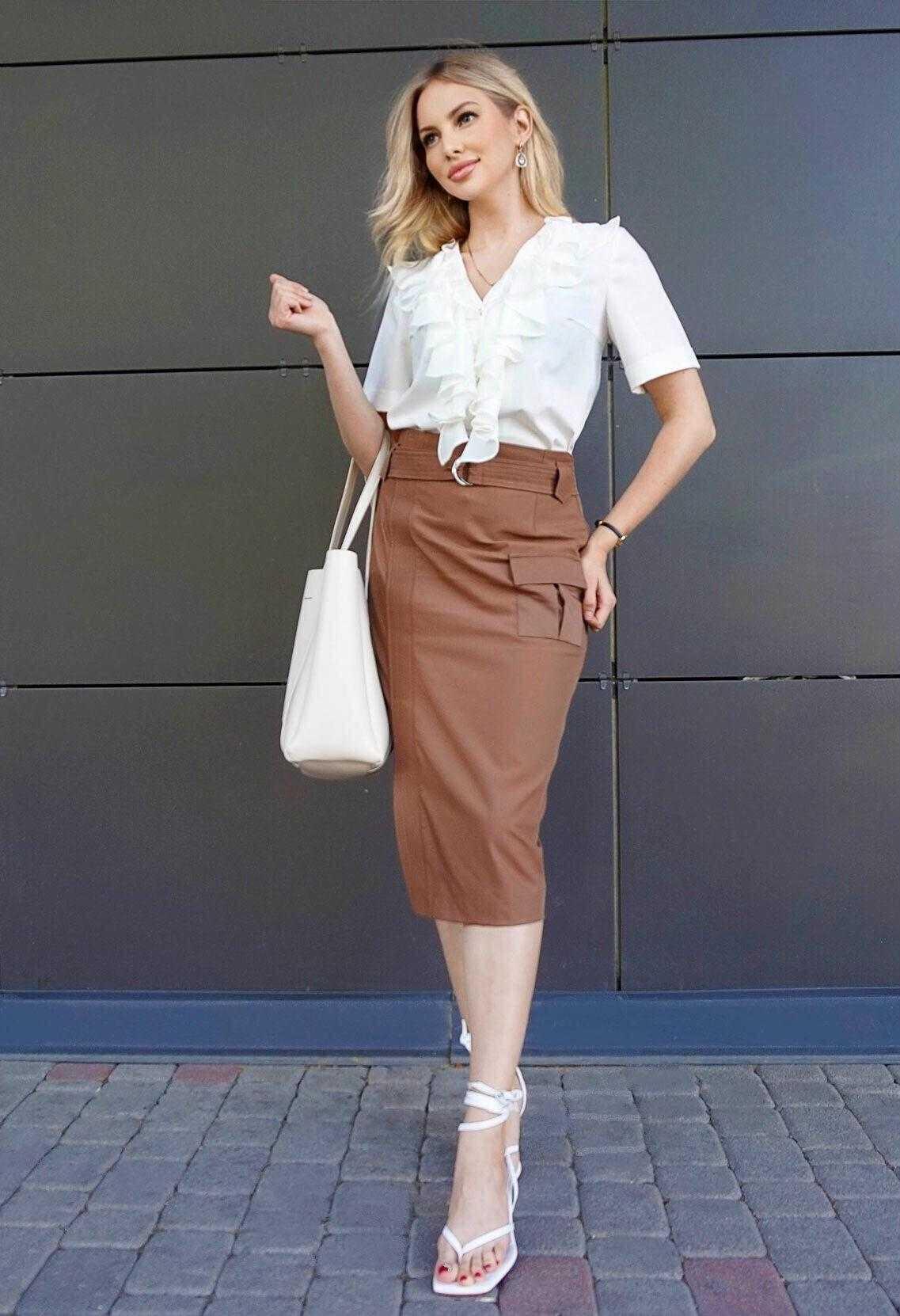 коричневые юбки фото