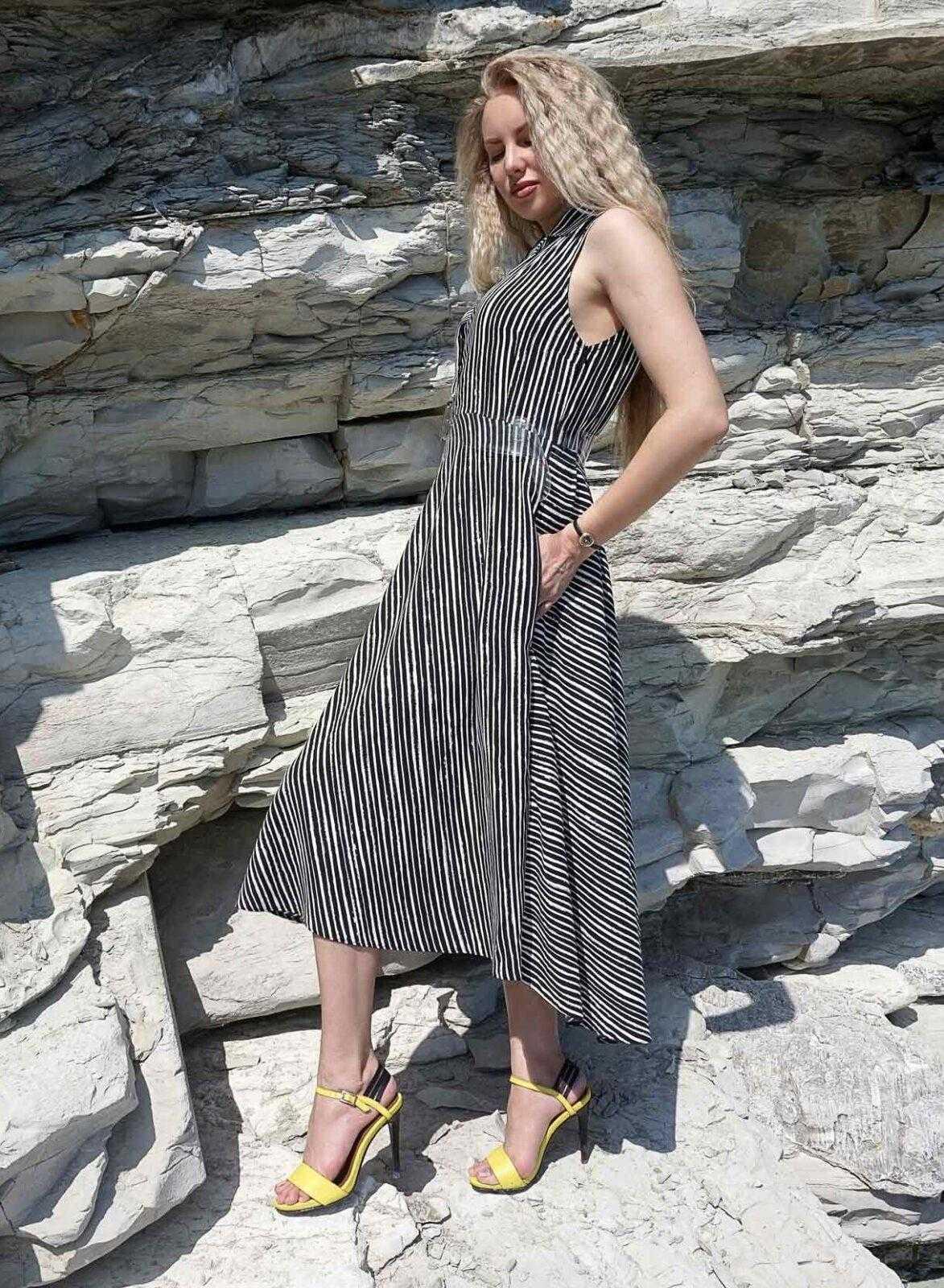 красивые летние длинные платья