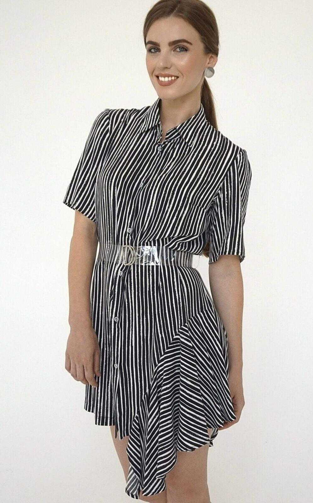 платье в черно белую полоску вертикальную