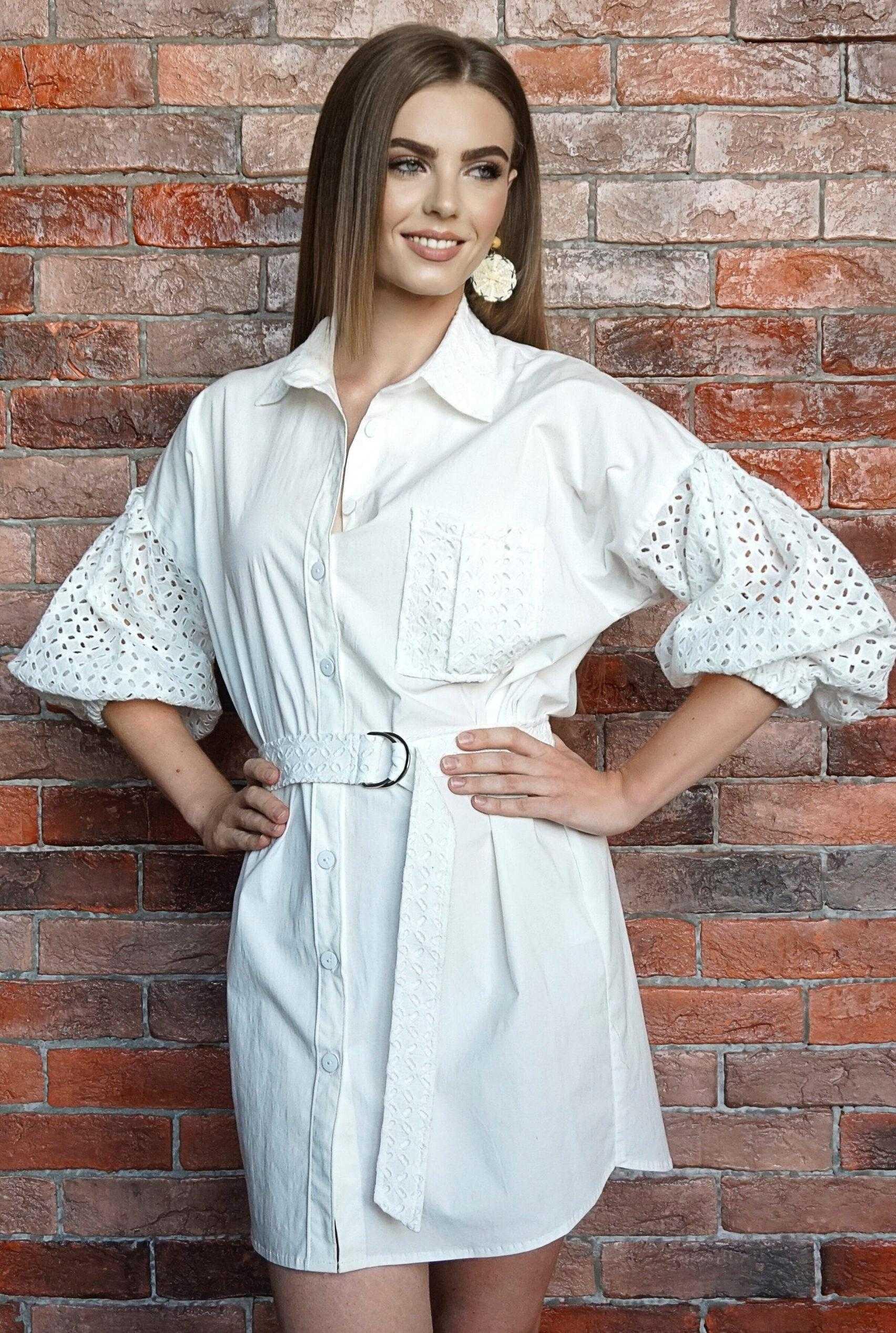 белое платье рубашка купить