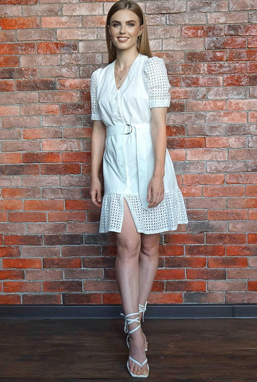 платье шитье хлопок белое