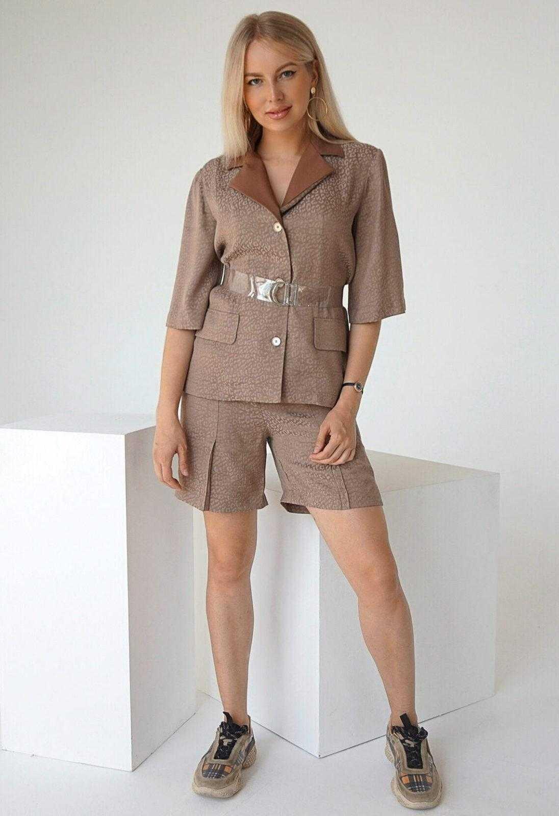 костюм шорты и пиджак женский