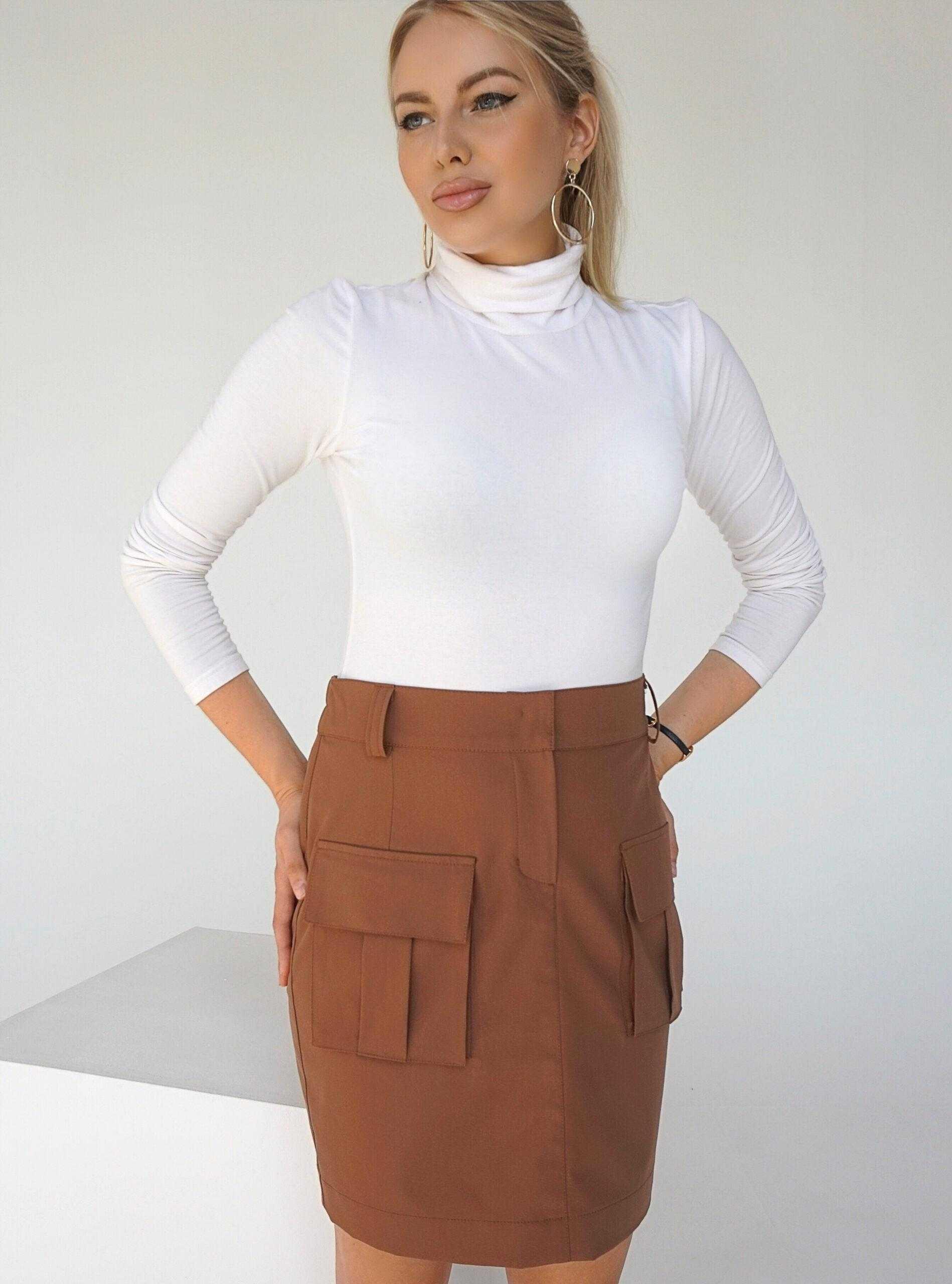 купить коричневую юбку