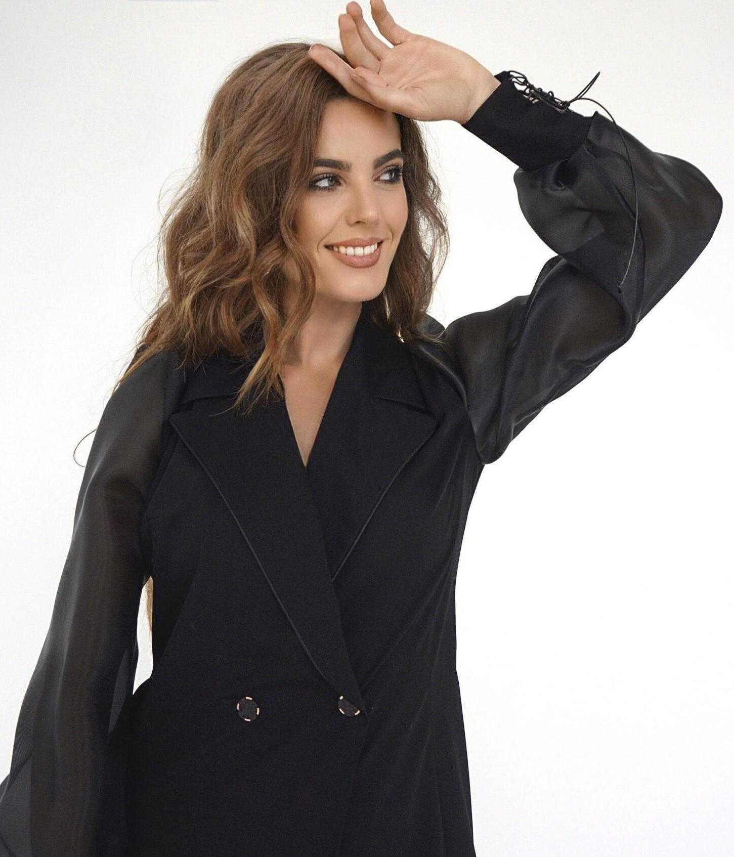платье пиджак черный