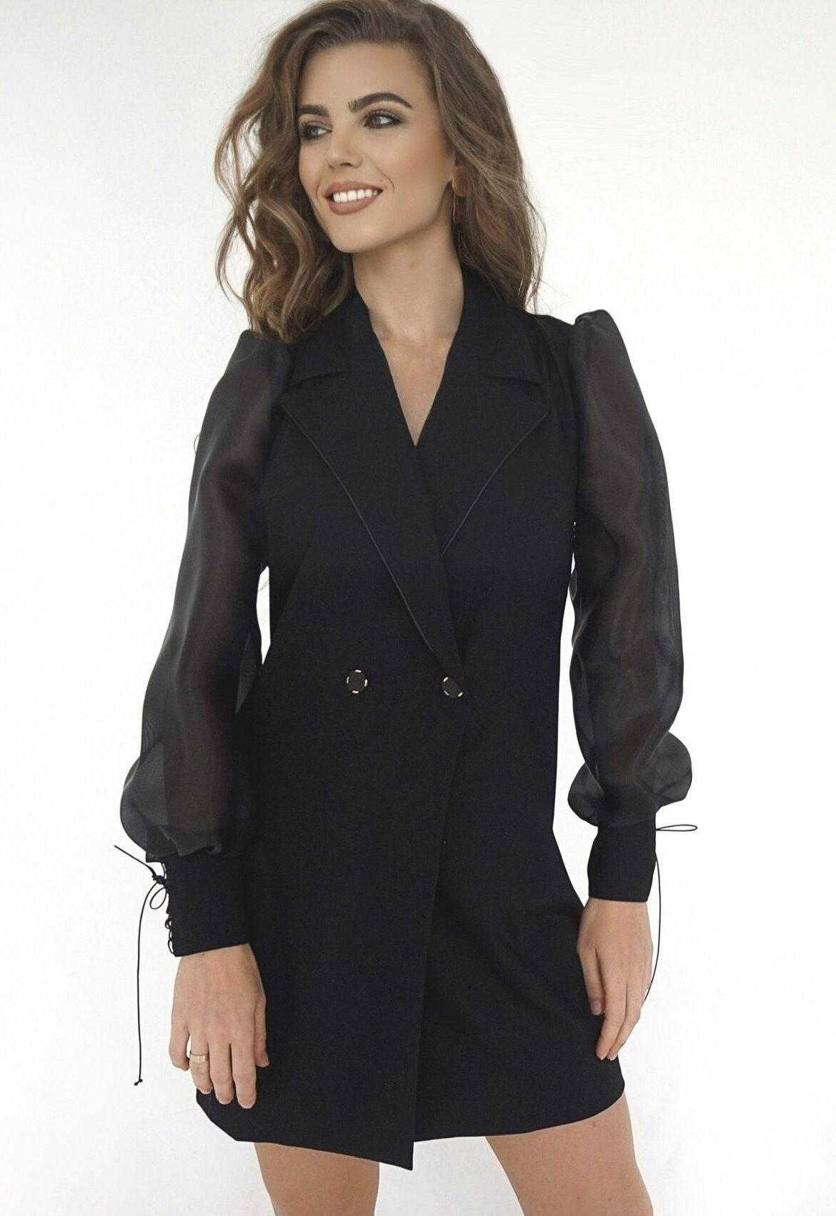 Черное платье пиджак (артикул ML 80)