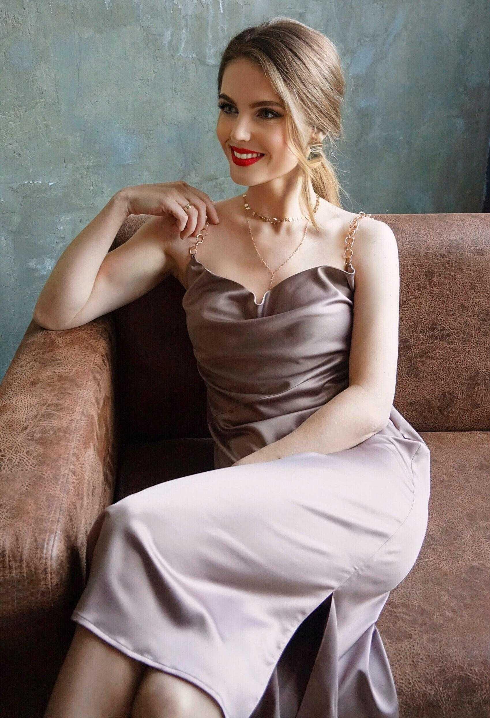 платье комбинация шоколадного цвета