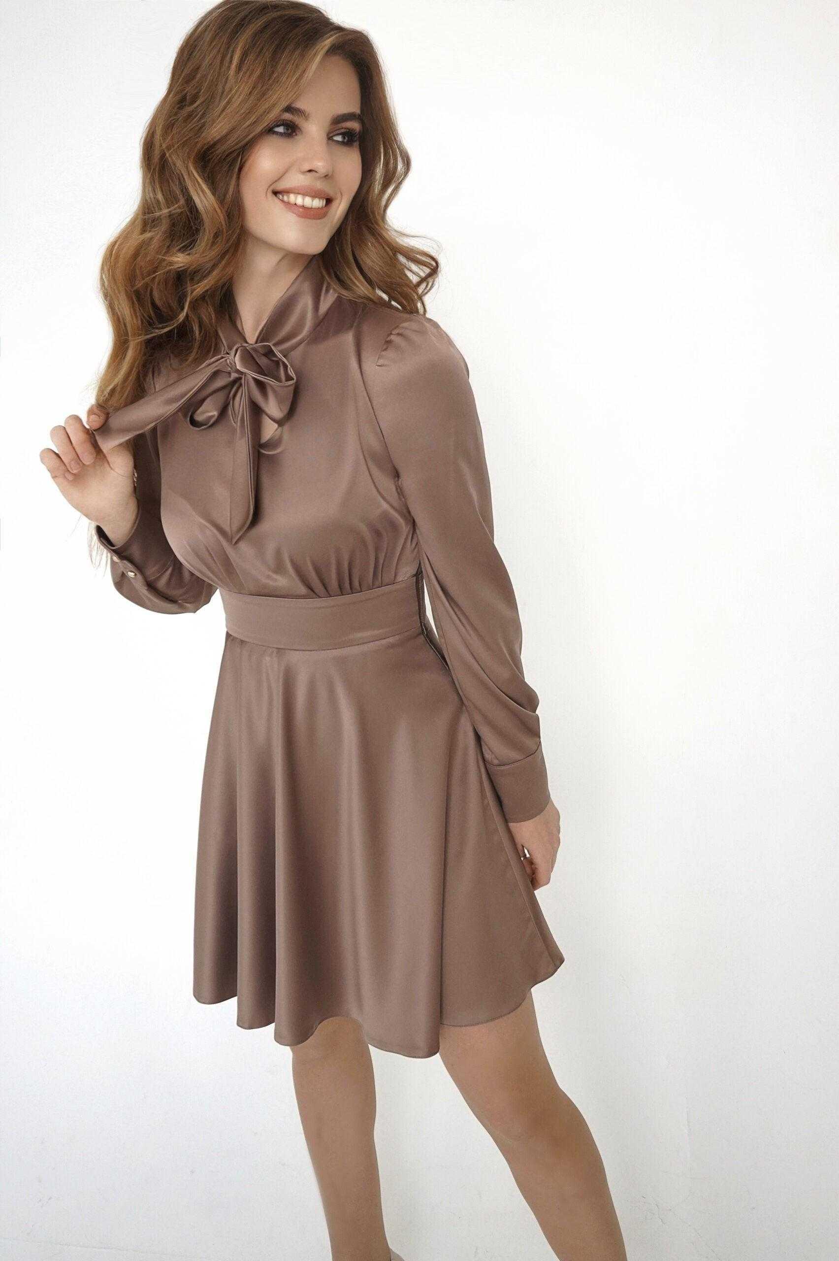 Платье шоколадного цвета (артикул Ml 84/1)