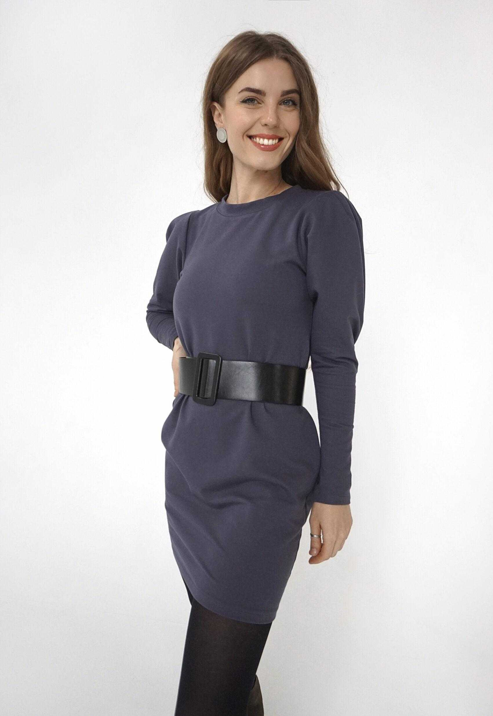 Трикотажное платье 2021 (артикул ML 93)