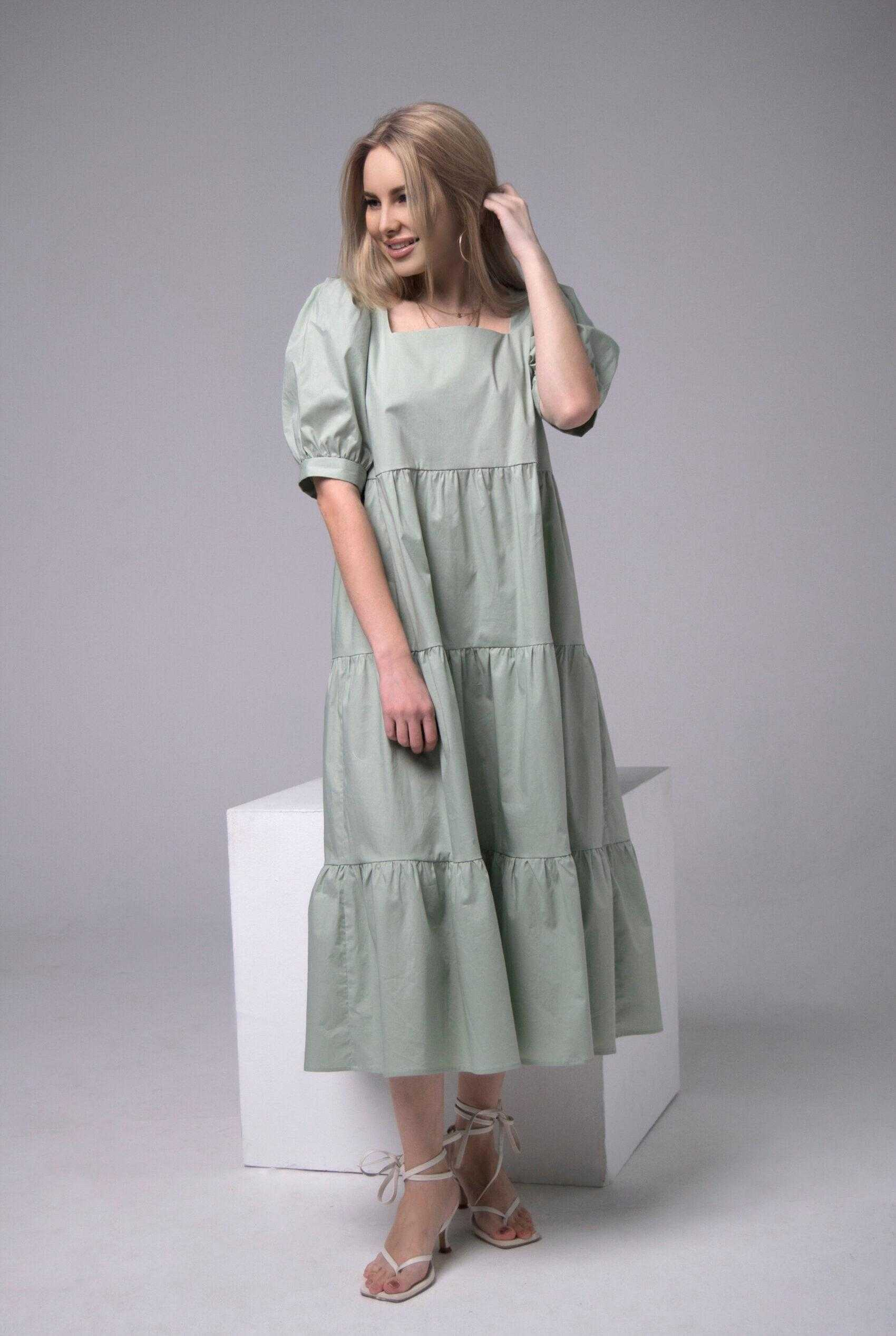 летние длинные платья хлопок
