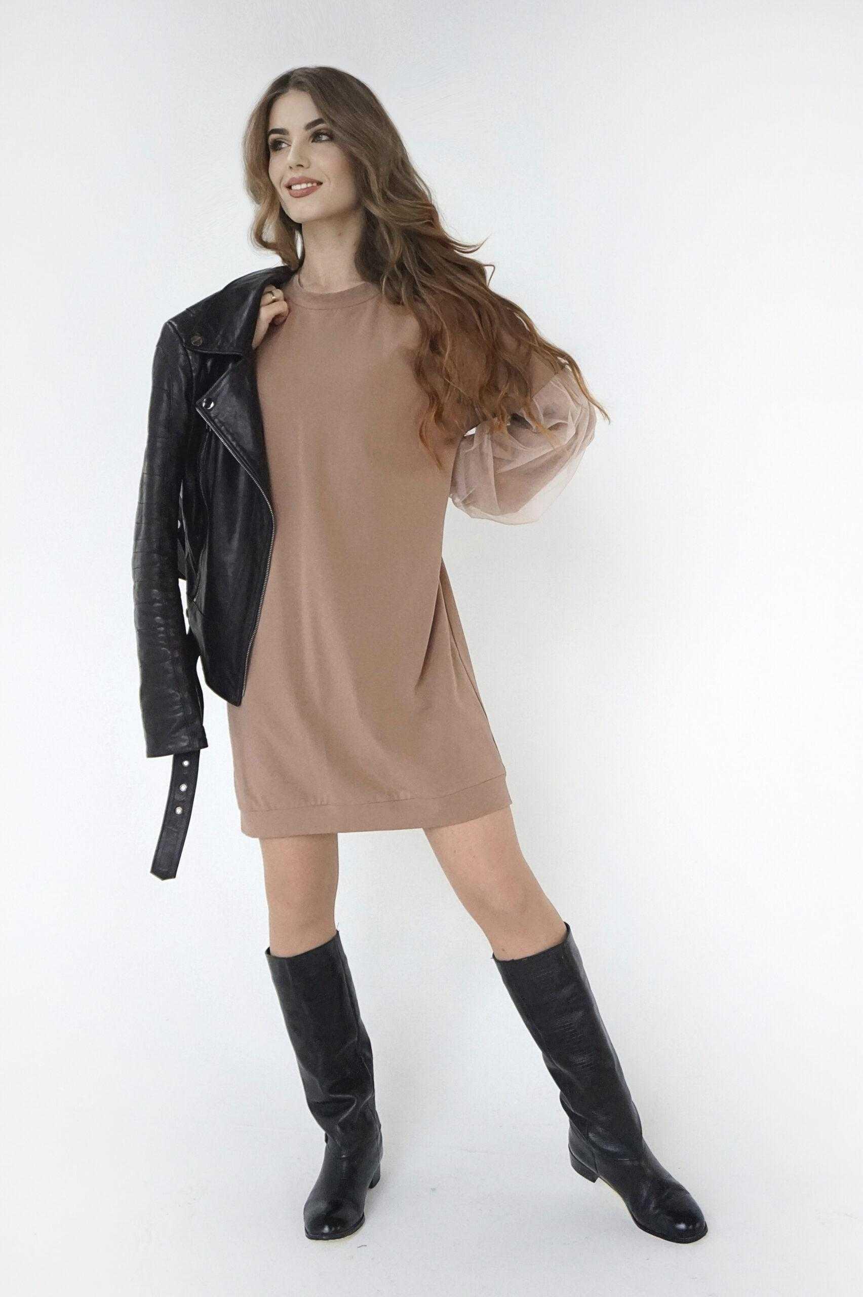 платье цвета капучино