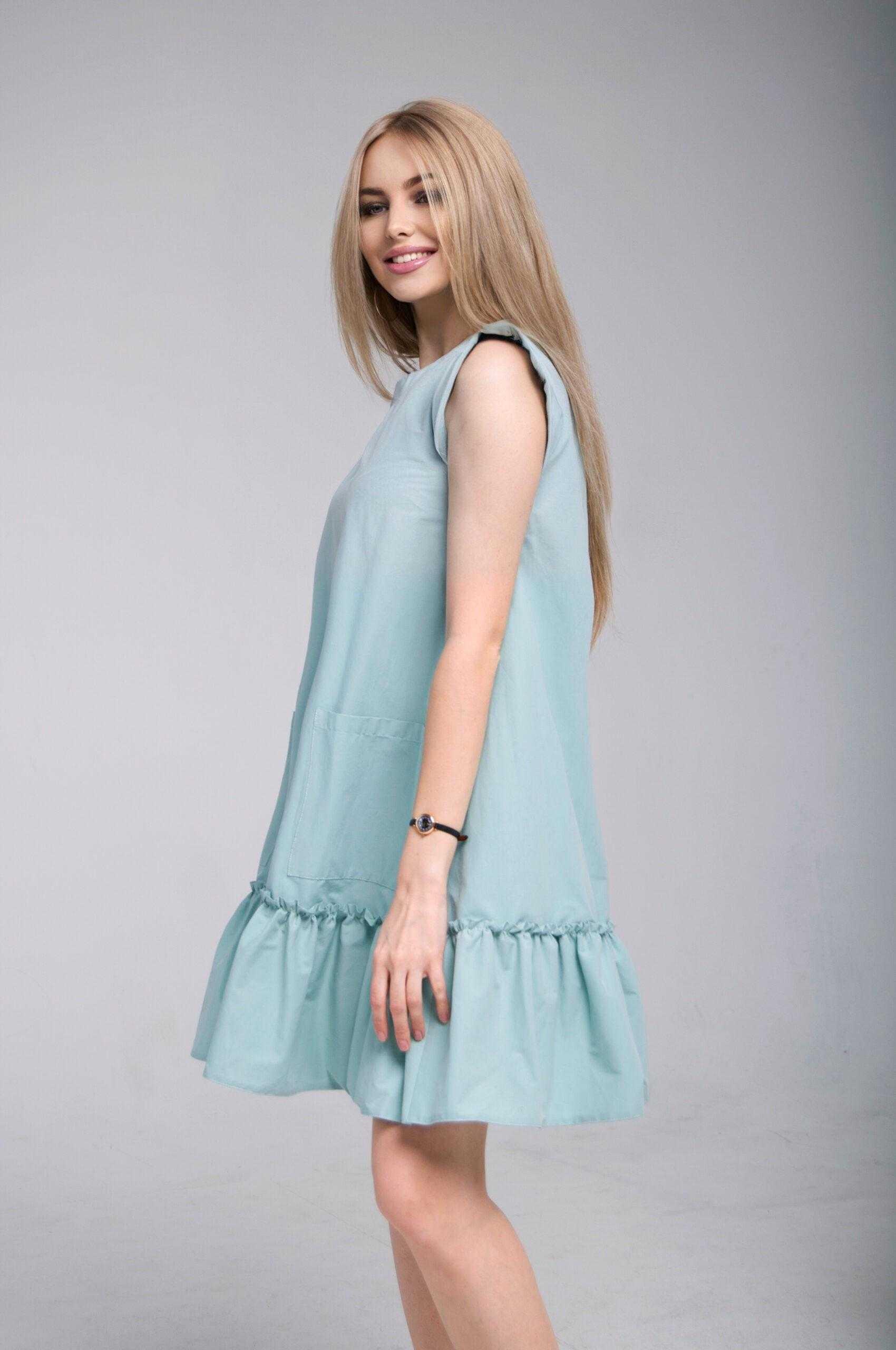 платье широкого кроя