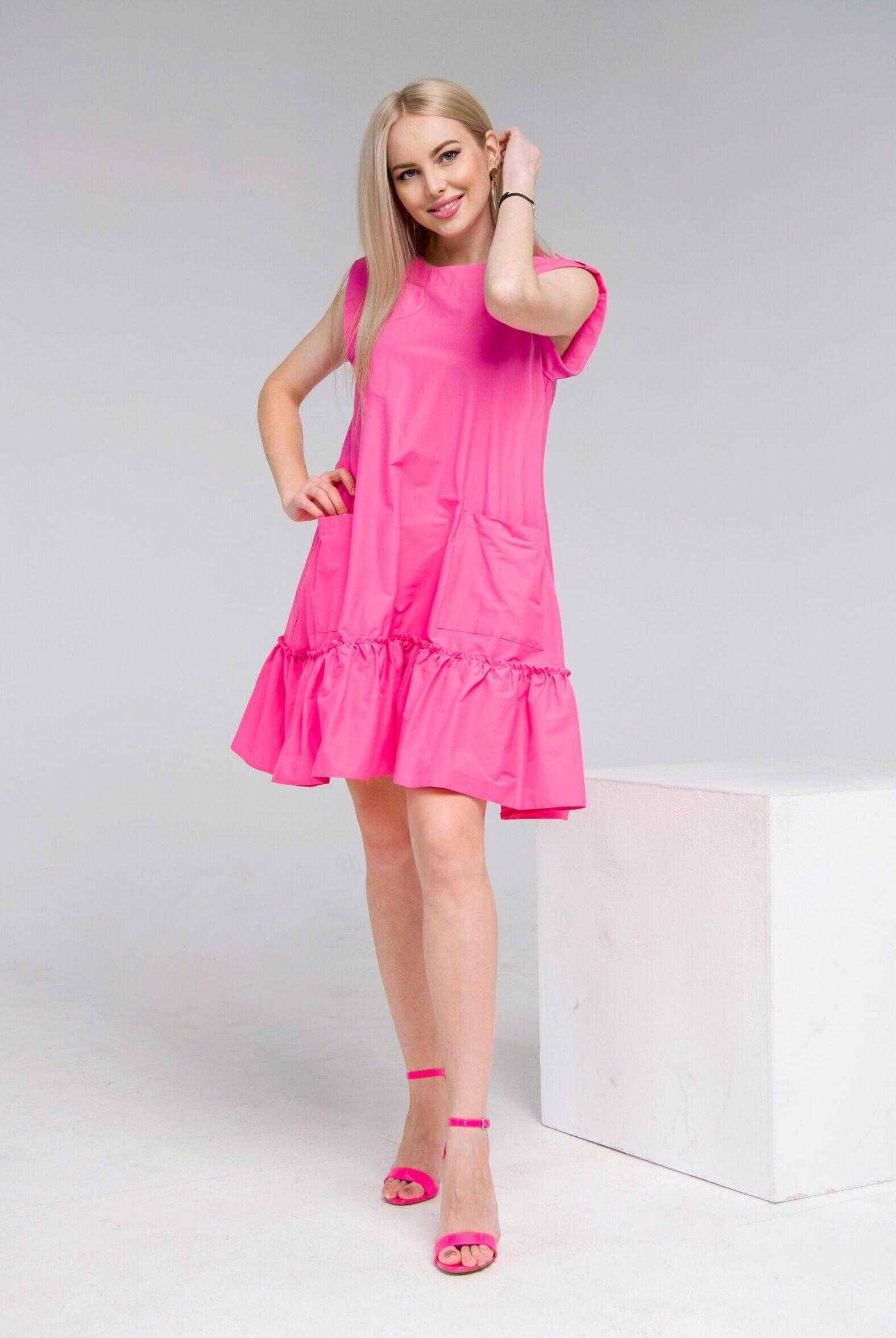 платья розового цвета фото