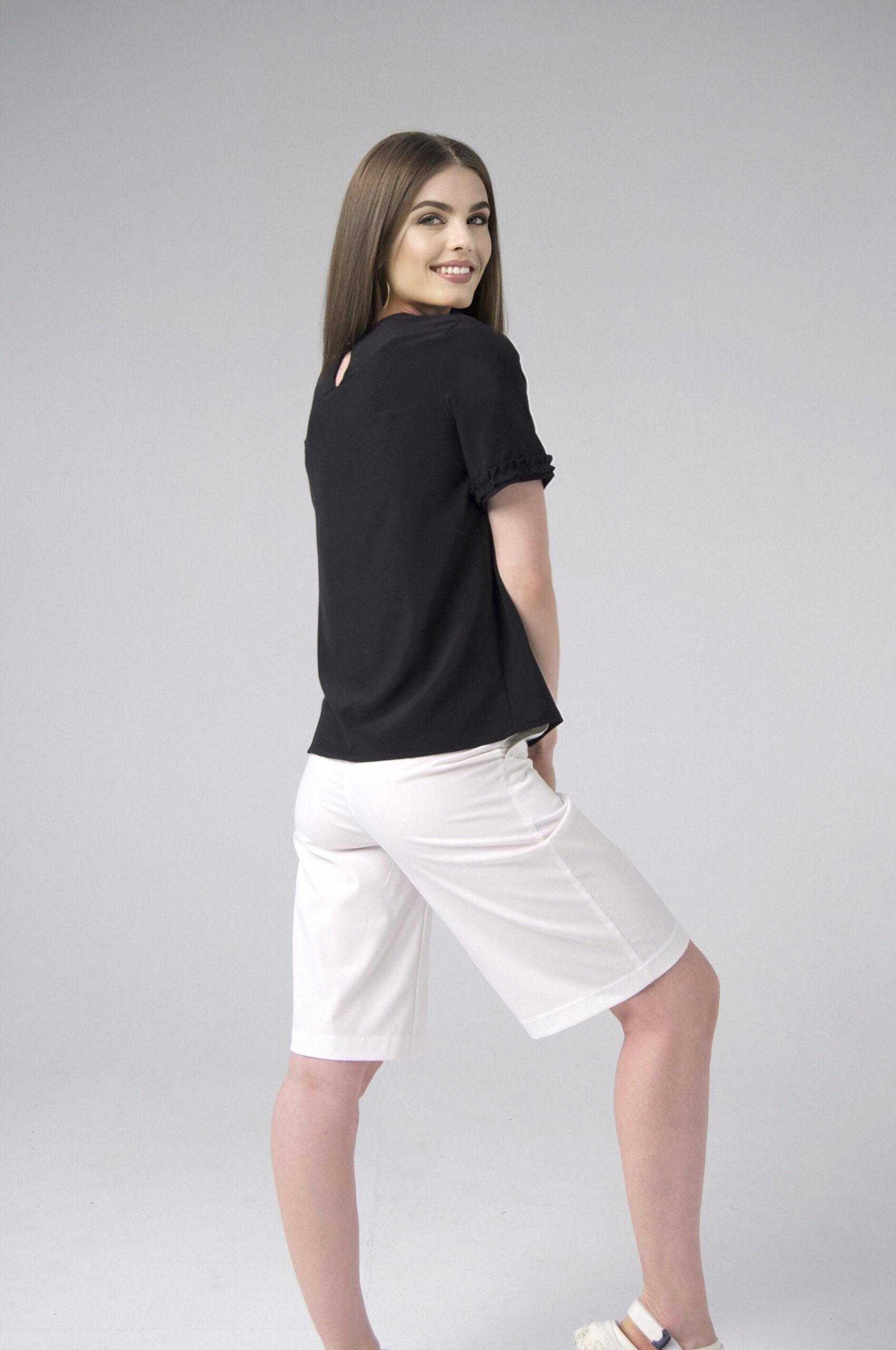 черная блузка футболка