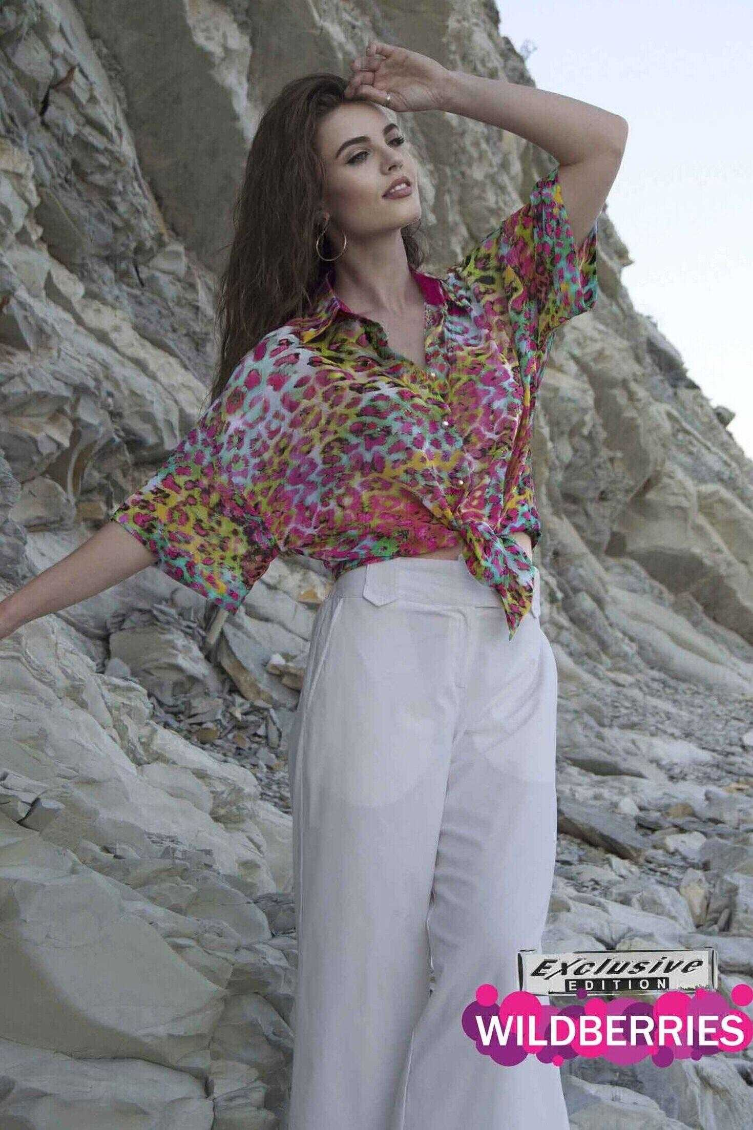Рубашка женская яркая (артикул ml 124)