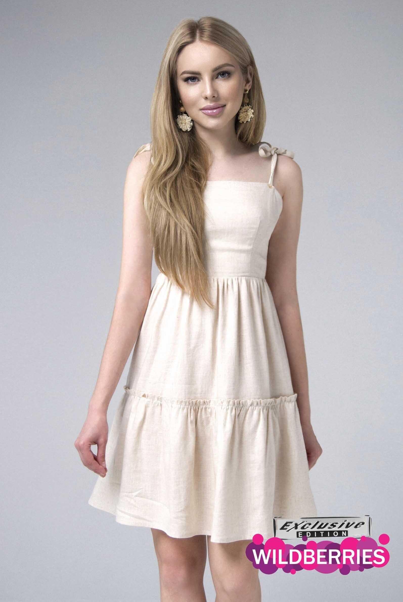 Платье изо льна (артикул ml 126)