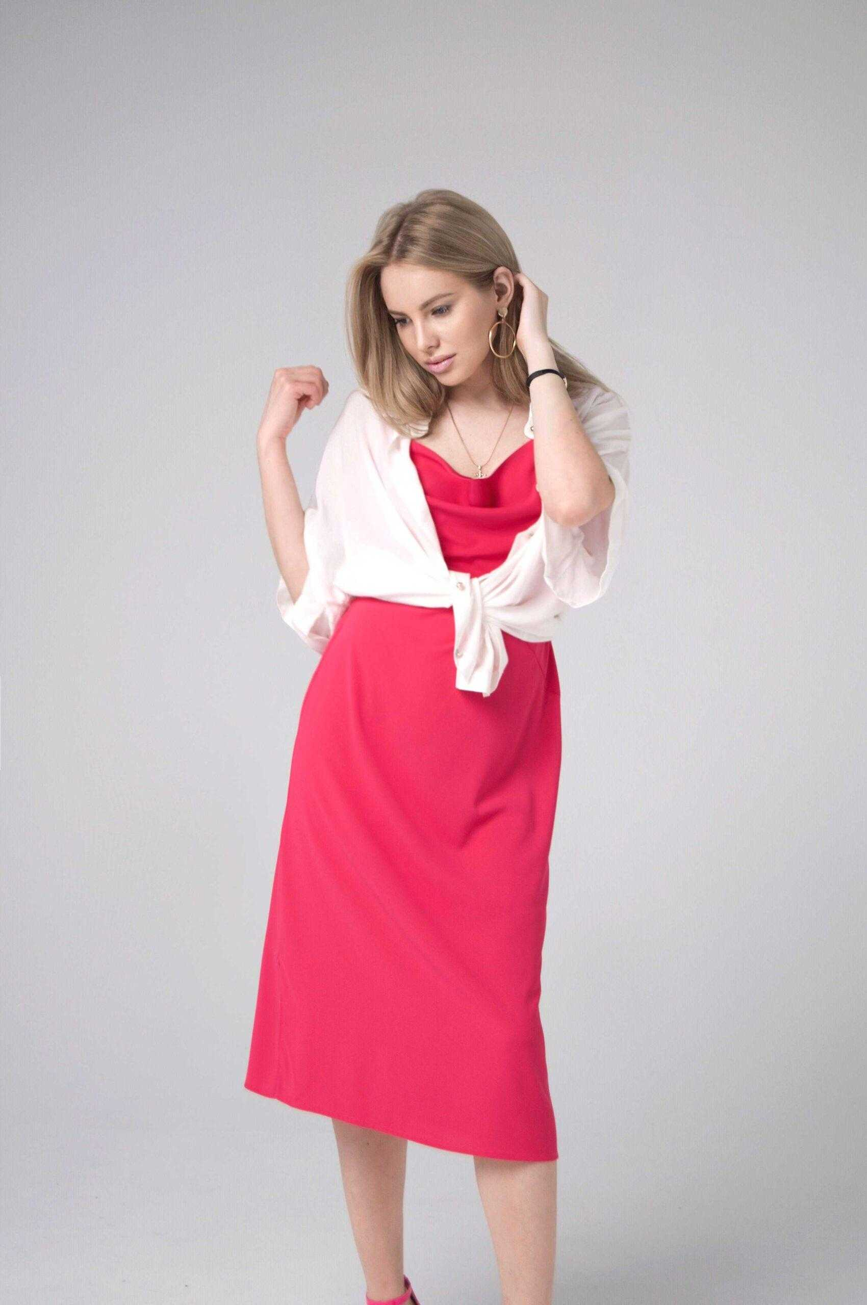 Летнее платье комбинация