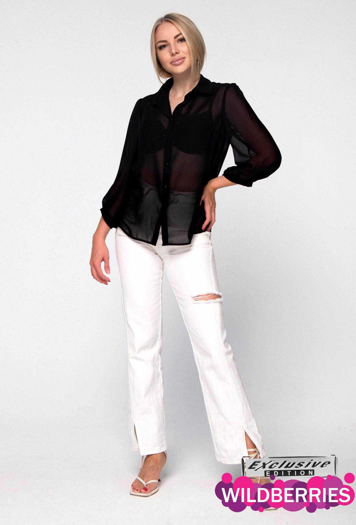черная блузка тонкая