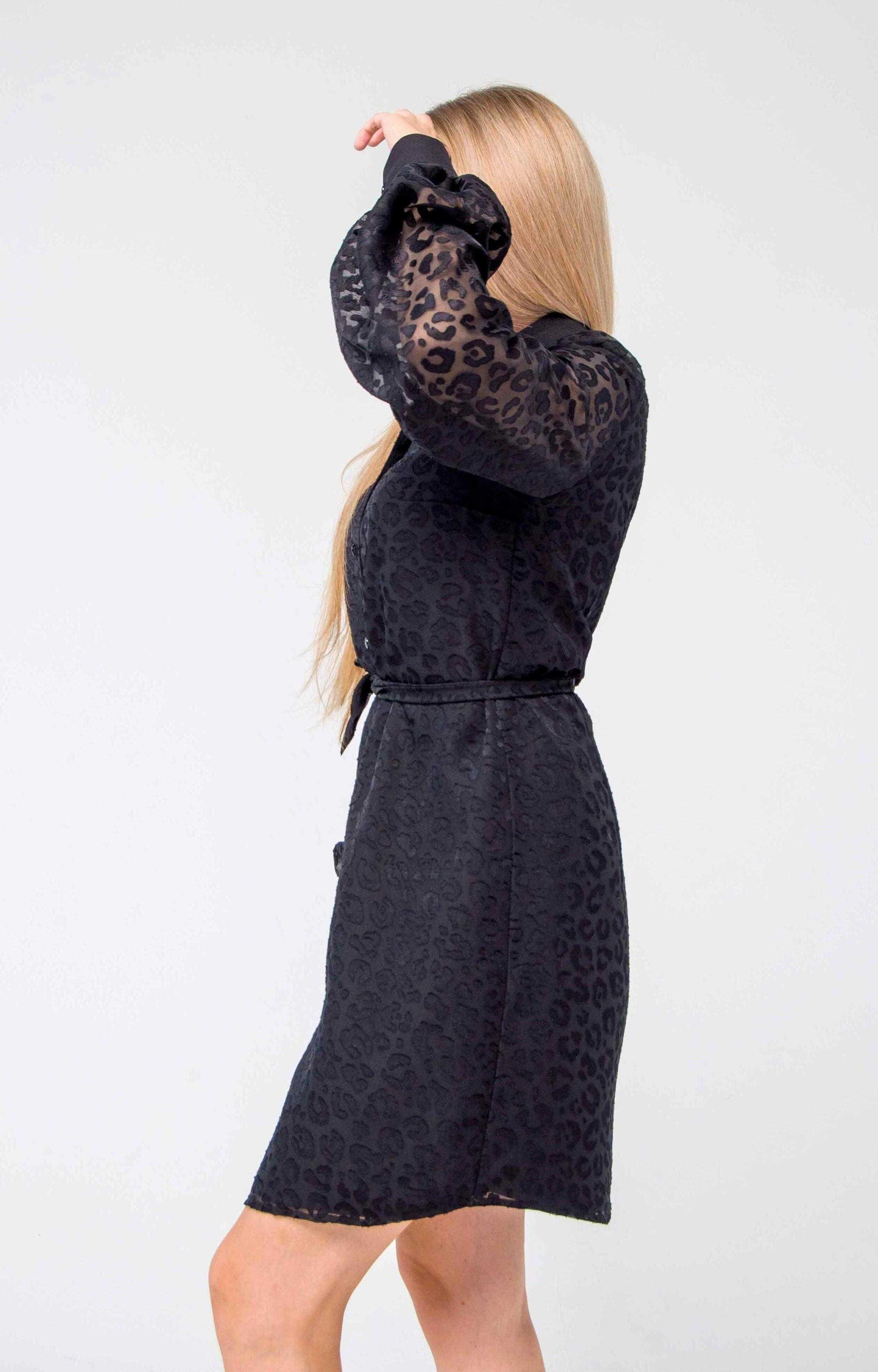 платье рубашка черная