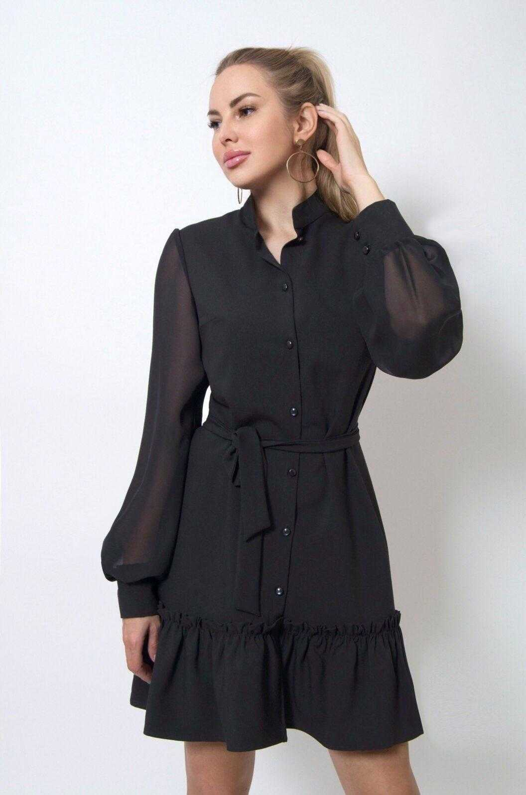 черные праздничные платья