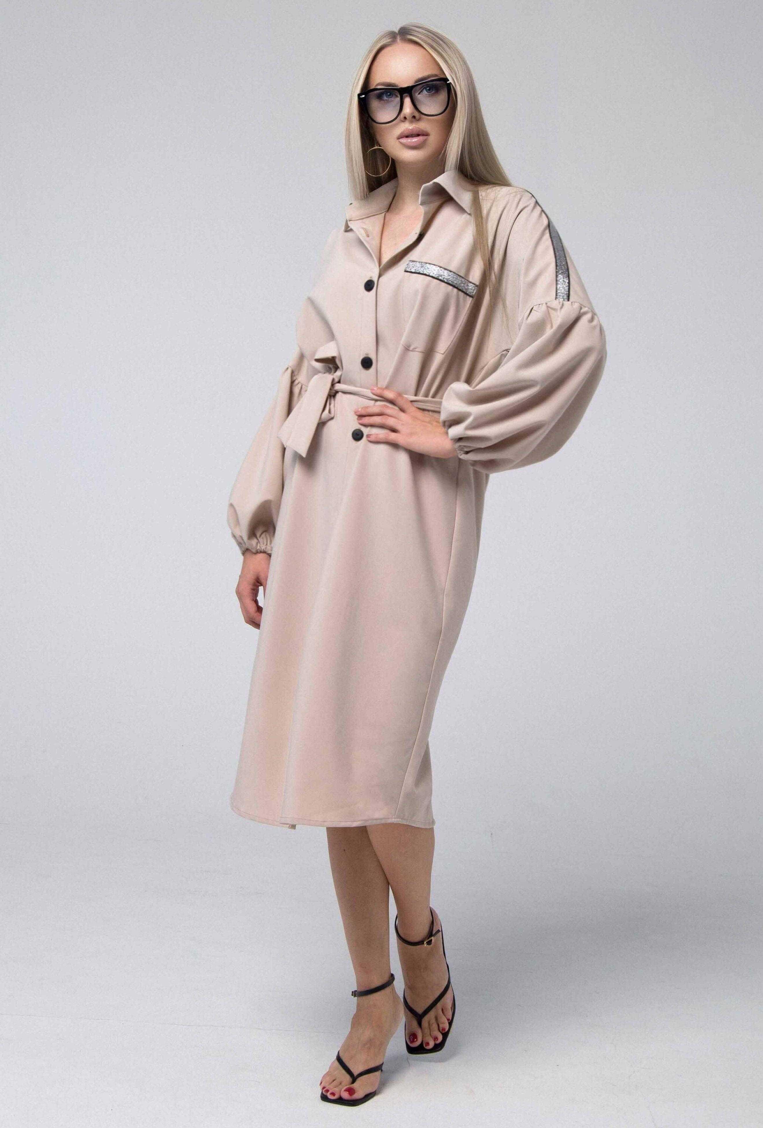 Платье рубашка миди (арт. ml 142)