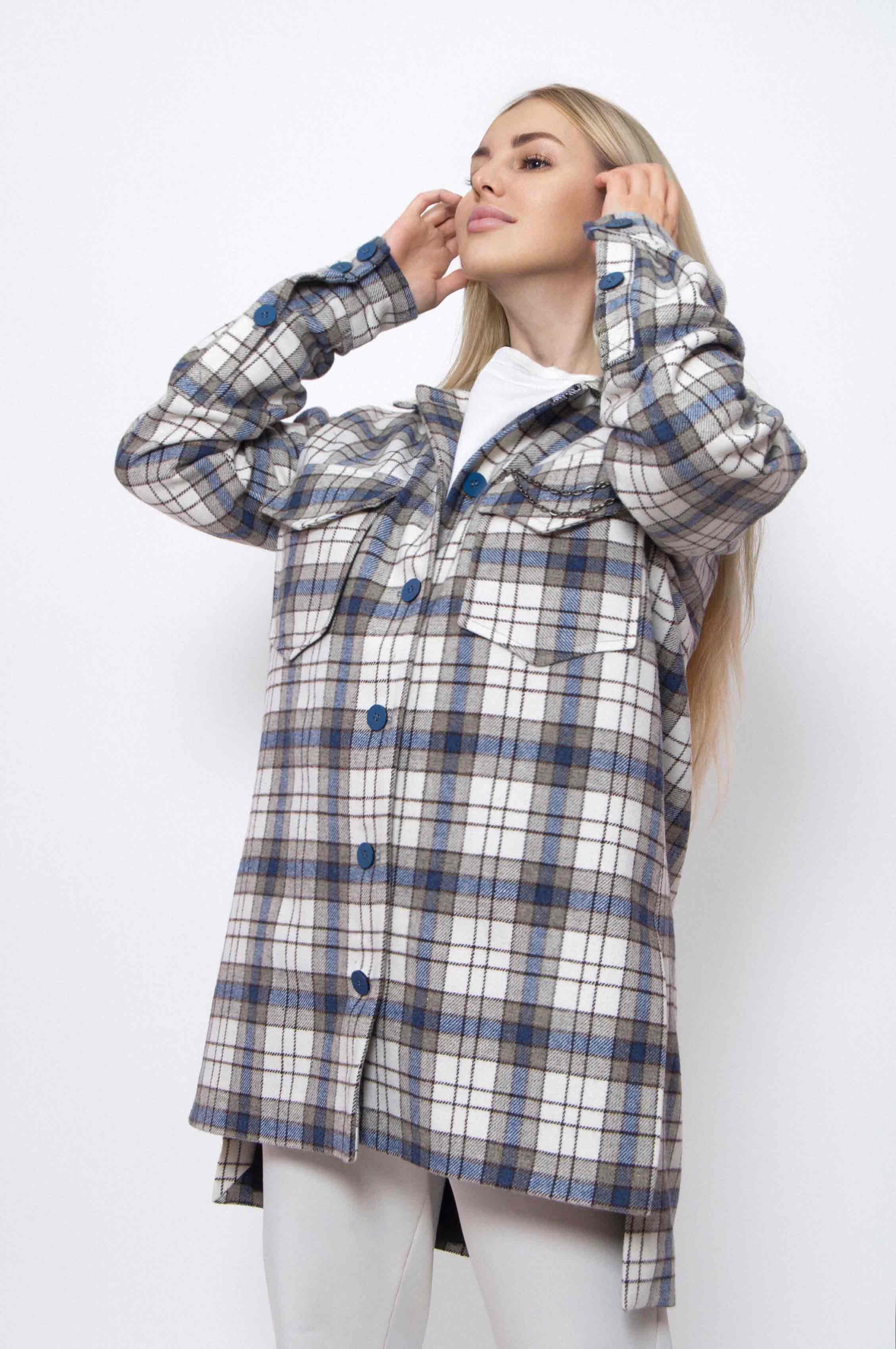 полупальто рубашка женская